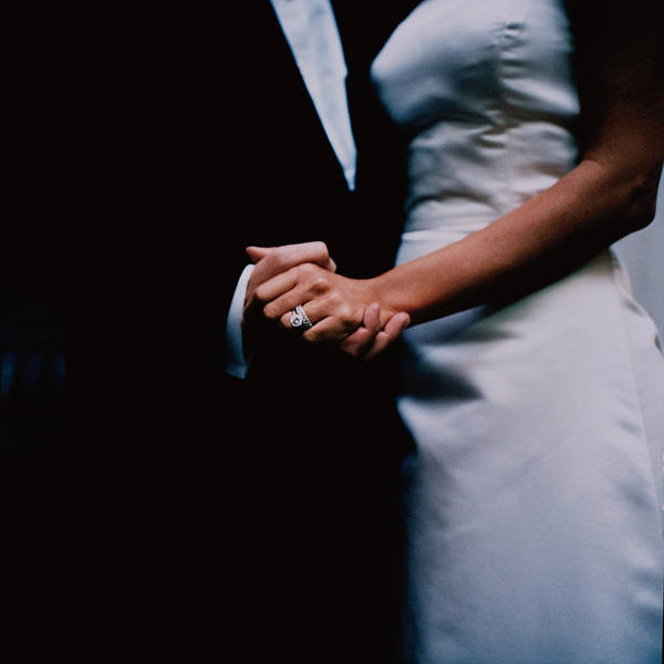 Wall Art - Photograph - Bride And Groom Hold Hands by Philippe Cheng