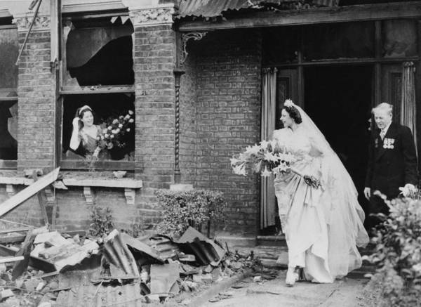 Married Photograph - Bride In A Bombed House In London On by Keystone-france