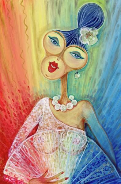 Wall Art - Mixed Media - Bride  by Nadezhda Salmon