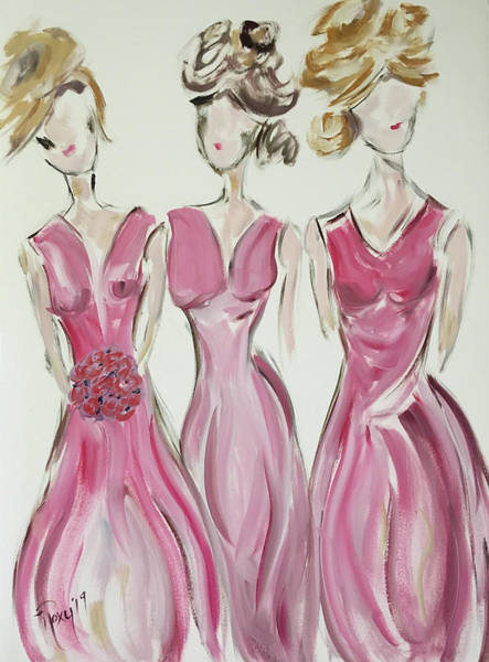 Wall Art - Painting - Bridesmaids by Roxy Rich