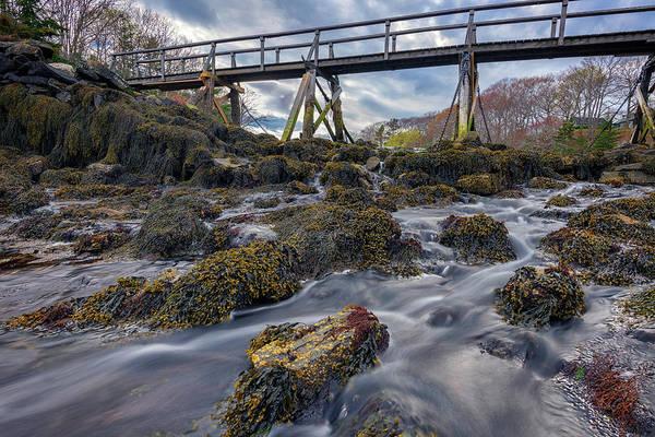 Photograph - Bridge Across Back Cove by Rick Berk