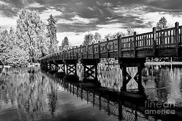 Photograph - Bridge At Drake Park Black And White by David Millenheft