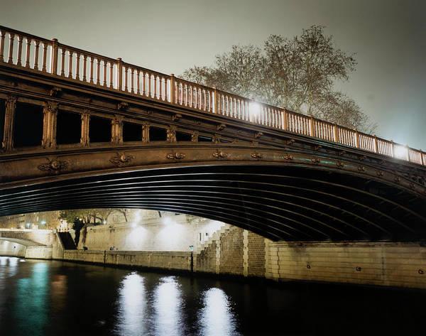 Photograph - Bridge At Night by Silvia Otte