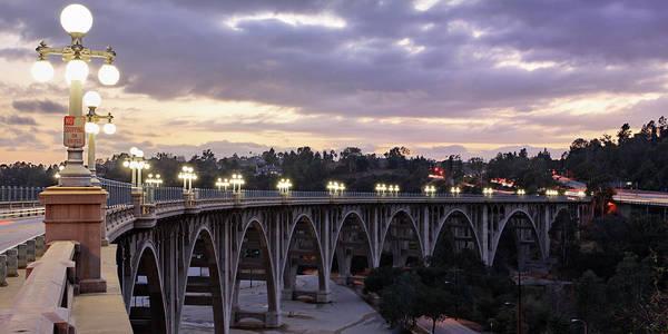 Wall Art - Photograph - Bridge At Sunset by S. Greg Panosian