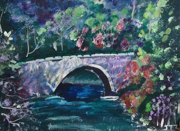 Wall Art - Painting - Bridge by Julie Thomas-Zucker