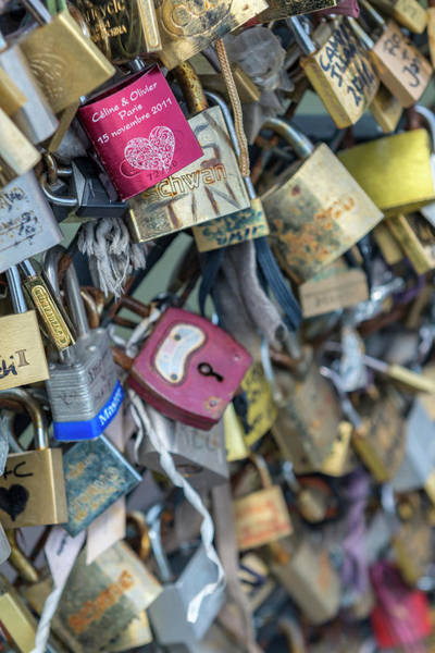 Wall Art - Photograph - Bridge Of Love Locks, Notre Dame by Jim Engelbrecht