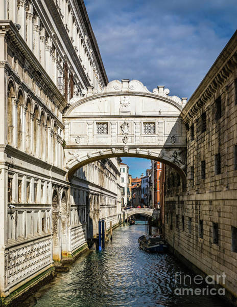 Photograph - Bridge Of Sighs, Venezia, Italy by Lyl Dil Creations