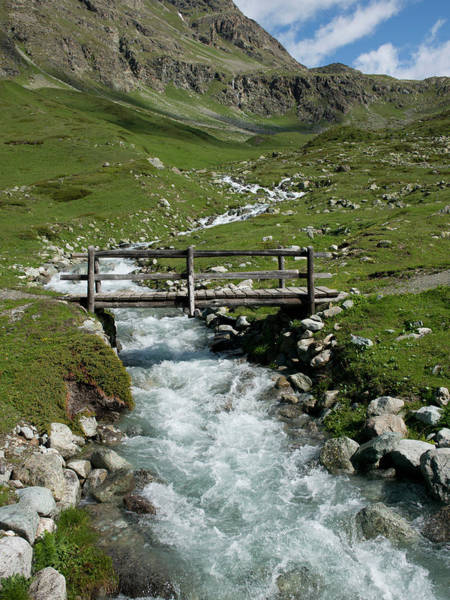 Drainage Photograph - Bridge Over A Mountain Creek by Buena Vista Images