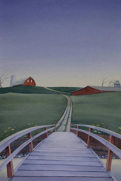 Painting - Bridge Over Buck Creek by Scott Kirby