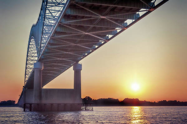 Photograph - Bridge Over Mississippi River by Christopher Meade