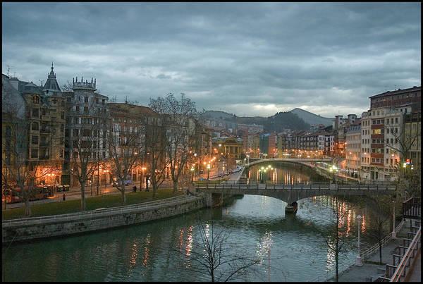 Bilbao Photograph - Bridge Over River by Flickr.com/photos/txanoduna/