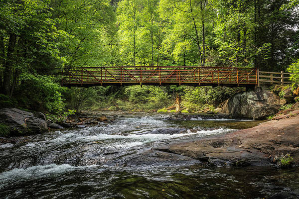 Photograph - Bridge Over Rushing Waters by Debra and Dave Vanderlaan