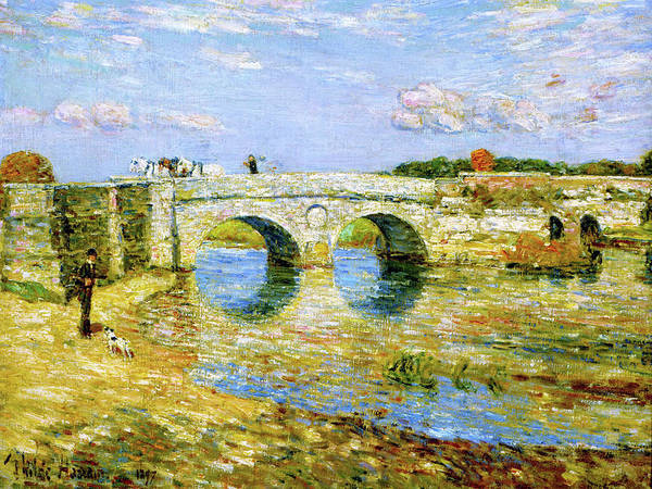 Wall Art - Painting - Bridge Over The Stour - Digital Remastered Edition by Frederick Childe Hassam