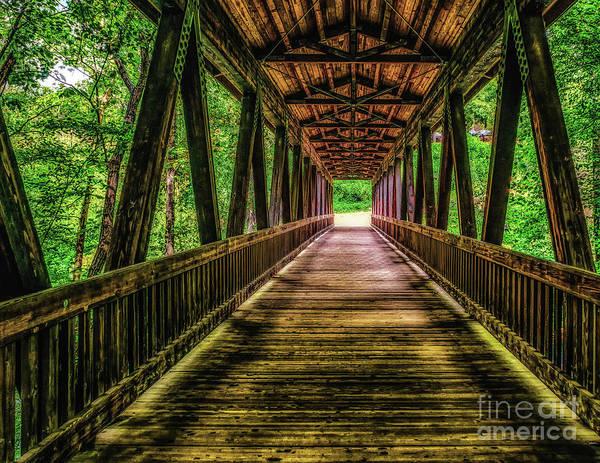 Photograph - Bridge Over Vickery Creek by Nick Zelinsky