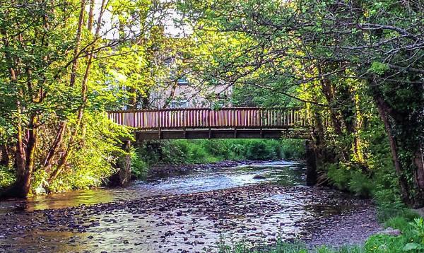 Wall Art - Photograph - Bridge Over West Okement River Okehampton Devon by Richard Brookes