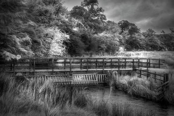 Photograph - Bridge Through Scotland  Black And White by Debra and Dave Vanderlaan