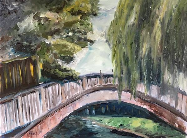 Wall Art - Painting - Bridge To Dorking by Roxy Rich