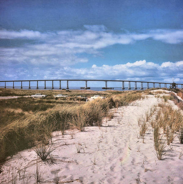 Photograph - Bridge To Obx Circa 1970 by JAMART Photography