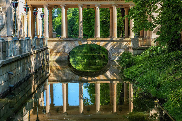Wall Art - Photograph - Bridge With Colonnade In Lazienki Park by Artur Bogacki