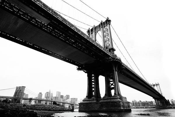 Lower Manhattan Photograph - Bridges by Blackwaterimages