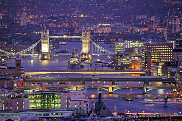 Capital Cities Photograph - Bridges Of London by James Burns