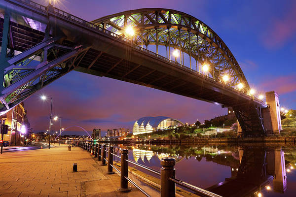 Gateshead Millennium Bridge Photograph - Bridges Over The River Tyne In by Sara winter