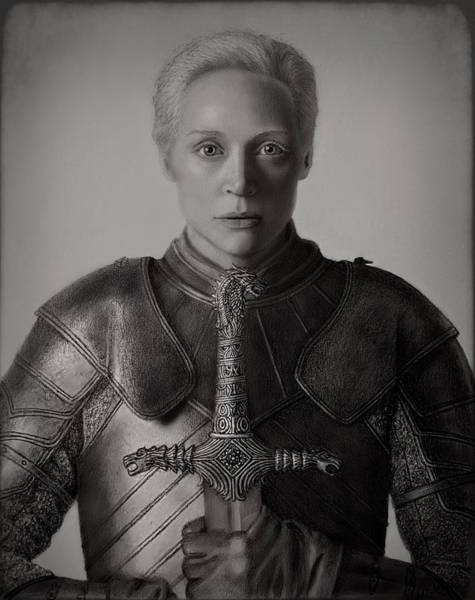 Drawing - Brienne Of Tarth by Vanessa Cole