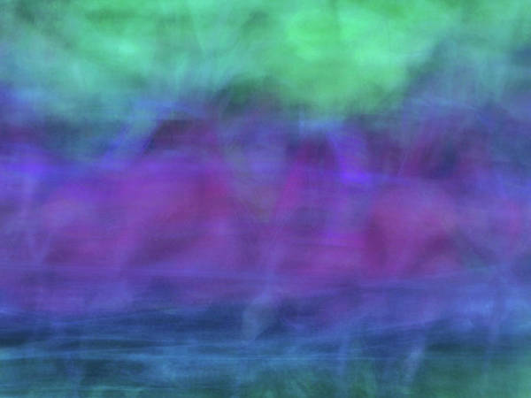 Photograph - Bright Artistic Abstract Blurred Lines And Shapes Of Purples, Blues And Greens Textures by Teri Virbickis