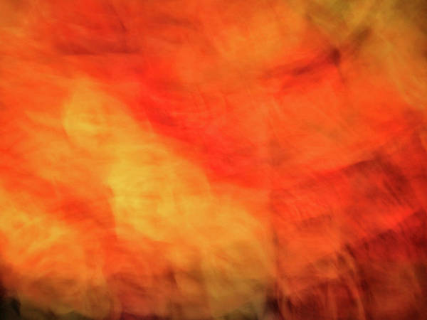 Photograph - Bright Artistic Fire Like Background Of Red, Orange And Yellow Textures by Teri Virbickis