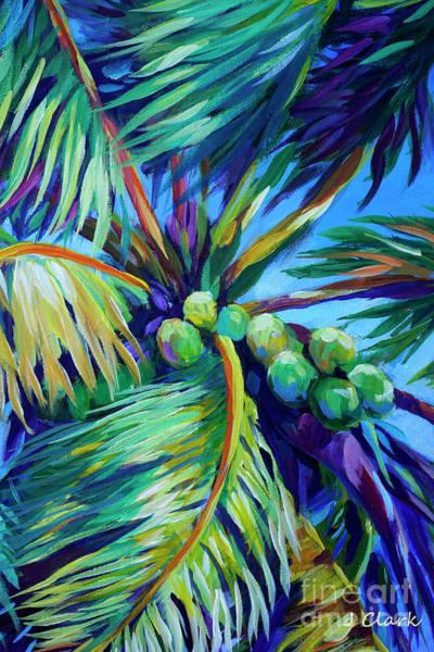 Coconut Tree Painting - Bright Coconuts by John Clark