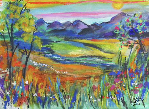 Painting - Bright Country by Jean Batzell Fitzgerald