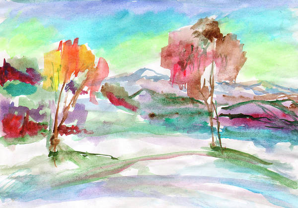 Painting - Bright Day When The First Snow Fell by Irina Dobrotsvet