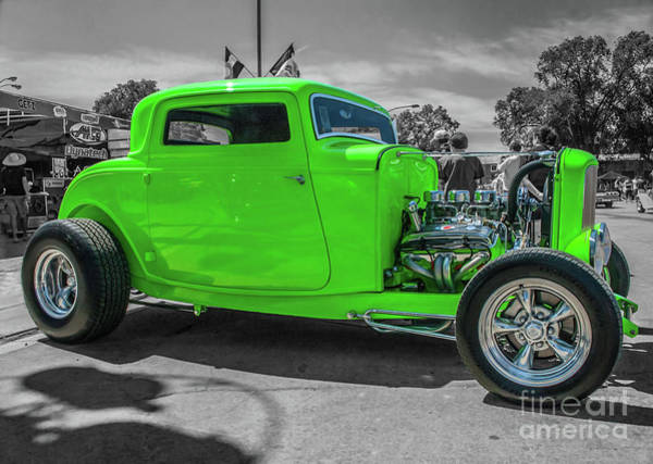 Photograph - Bright Green Ford by Tony Baca