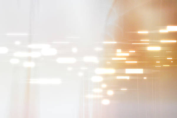 Digital Image Digital Art - Bright Lights Abstract by Stockbyte