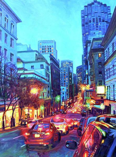 Painting - Bright Lights, Big City by Bonnie Lambert