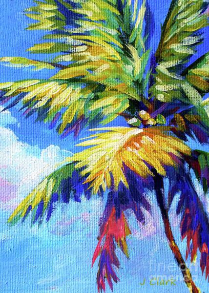 Wall Art - Painting - Bright Palm 5x7 by John Clark