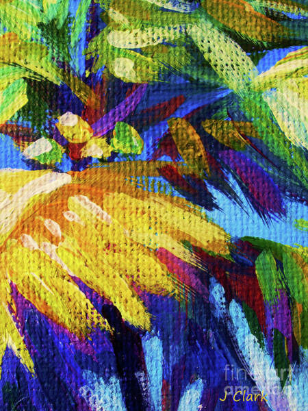 Wall Art - Painting - Bright Palm Close Up by John Clark