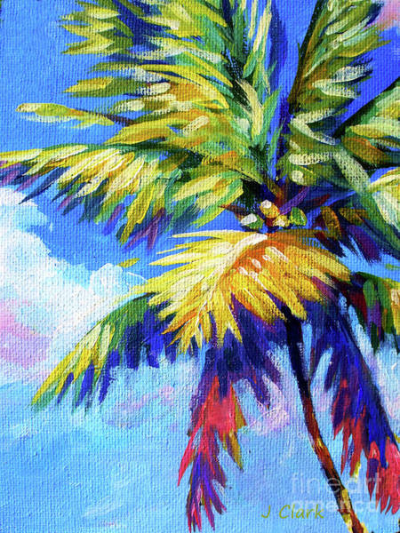 South Beach Painting - Bright Palm by John Clark