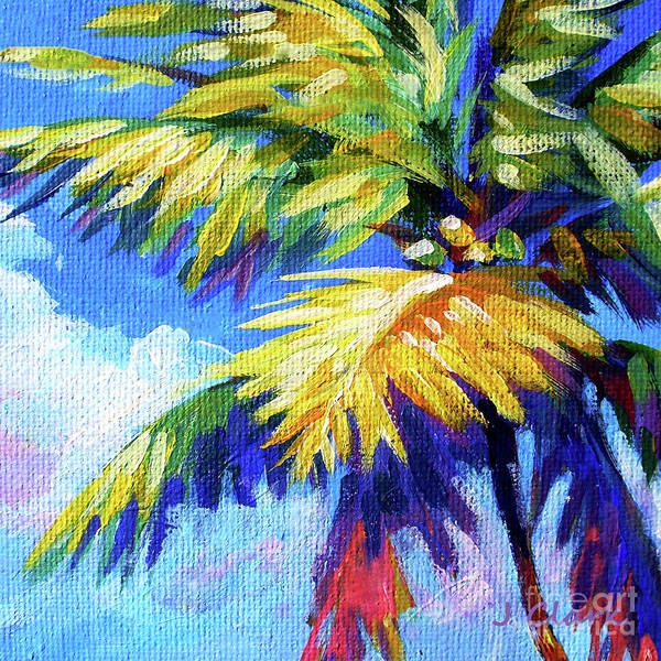 Wall Art - Painting - Bright Palm Square by John Clark