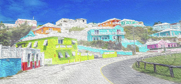 Wall Art - Digital Art - Bright Parish Life Bermuda by Betsy Knapp