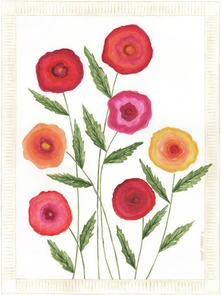 Wall Art - Painting - Bright Poppies I by Cindy Shamp