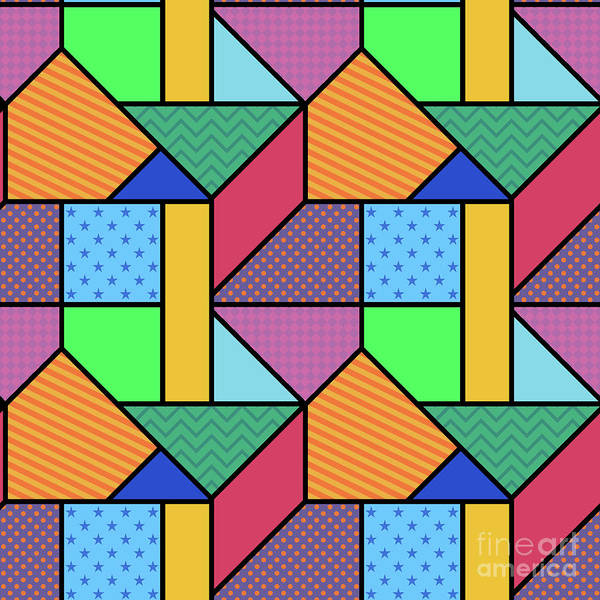 Wall Art - Digital Art - Bright Seamless Pattern In Geometric by Iryna Omelchak