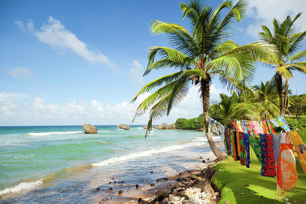 Greater Antilles Photograph - Bright Tranquil Beach In Barbados by Tomml