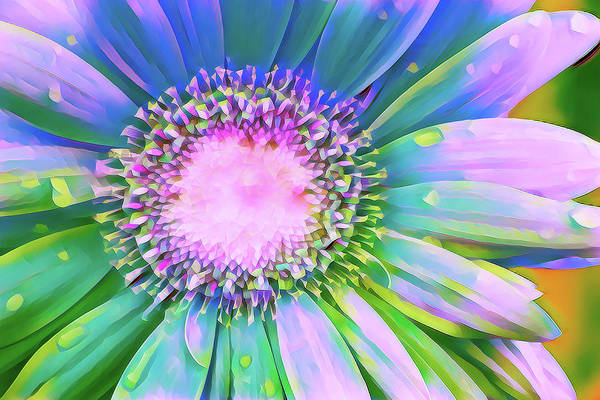 Wall Art - Digital Art - Bright, Vibrant Daisy by Terry Davis