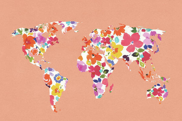 Wall Art - Painting - Bright World - No Words Peach by Wild Apple Portfolio