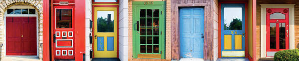Wall Art - Photograph - Brightly Colored Doors From Retail by Scott Heiner