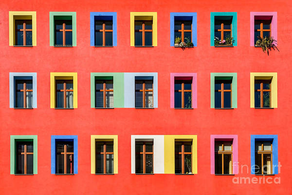 Wall Art - Photograph - Brightly Colorful Facade Of An by Ebenart