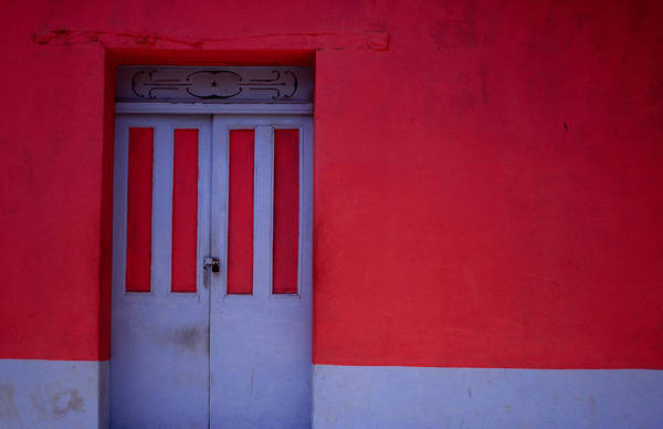 El Salvador Photograph - Brightly Painted House Facade In by Jeffrey Becom