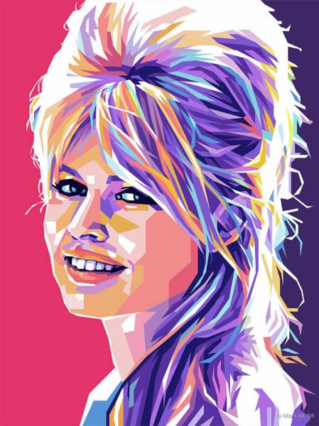 Wall Art - Digital Art - Brigitte Bardot Pop Art by Stars on Art