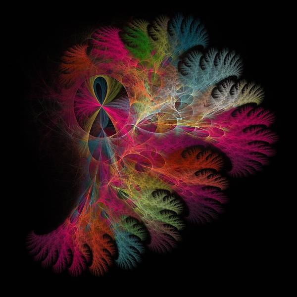 Wall Art - Digital Art - Brilliant Flare Coral Fractal by Betsy Knapp